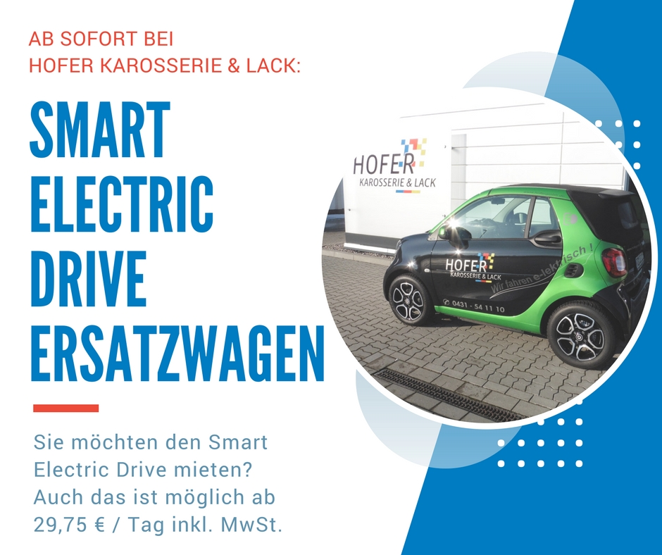Smart Electric Drive bei HOFER
